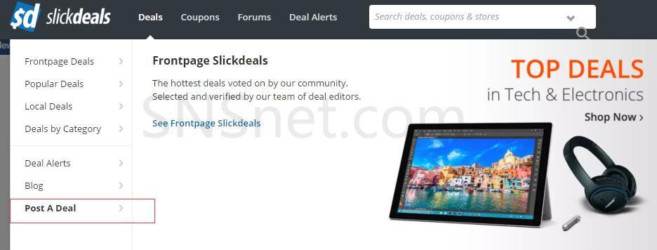 Slickdeals-post-deal
